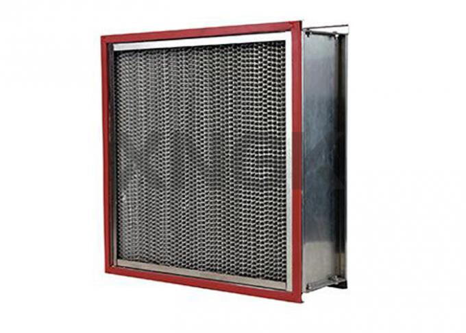 Single / Double Flange Type Oven Fan Filter , Metal Mesh H12 Hepa Filter Box Type