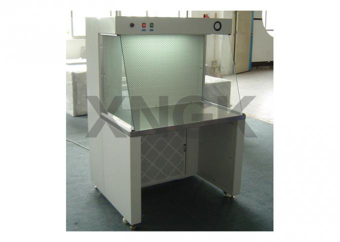 Class 100 Laminar Flow Hoods Painted Steel Frame Fluorescent Lamp / UV Light