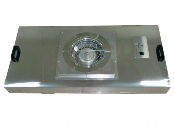 HVAC System Ceiling Fan Air Filter Unit With Glass Fiber HEPA Filter Stainless Steel Frame