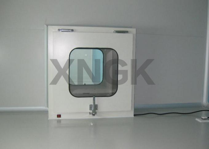 Interlock Door Dynamic Pass Box For Clean Room Stainless Steel Frame