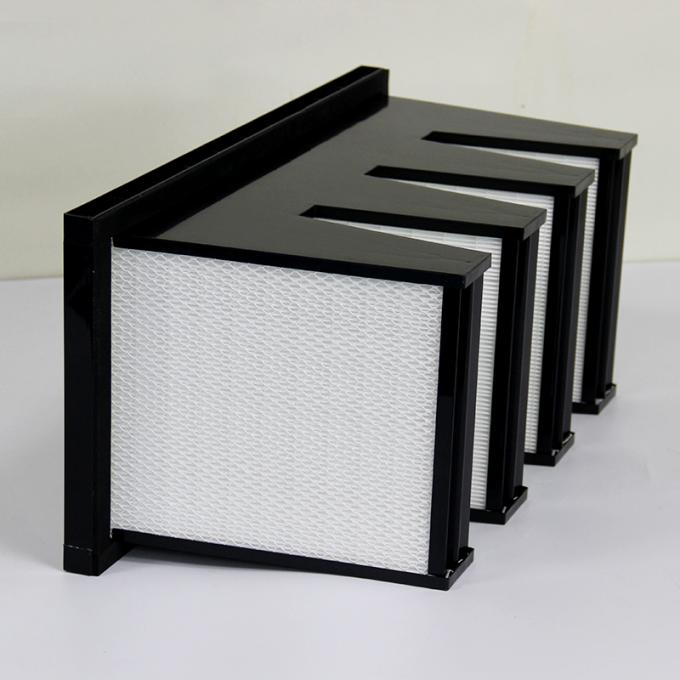 ABS Frame Sub HEPA V Bank Filter Glass Cotton For Air Conditioning System