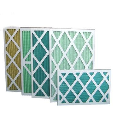 Customized Paper Frame Pre Air Filter Disposable Pleat Primary Furnace Air Filter Type