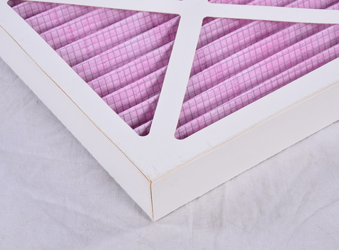 Coarse Paper Panel Air Filter Pre Filter Pleat Frame HVAC System Synthetic Fiber Media