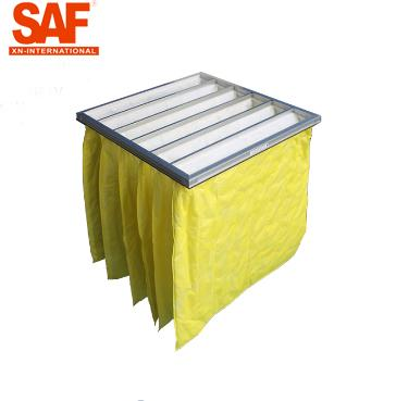 F8 Bag Type Pocket Air Filters 5 Micron Medium Efficiency Non Woven Ventilation System