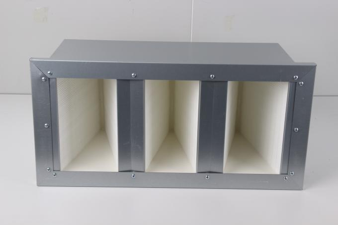 Aluminum Steel Frame Box V Type Filter , Stable HEPA Air Filters For AHU System