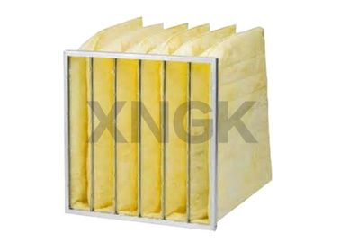 Synthetic Media Pocket Air Filter  V Shape Galvanized Steel Frame