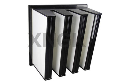 China Polyester V Bank Filter 4V Design F8 for Pharmaceutical Clean Room air filter supplier