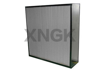 China Custom Cleanroom Hepa Filter Deep Pleated SUS Stainless Steel Frame H13 MPPS supplier