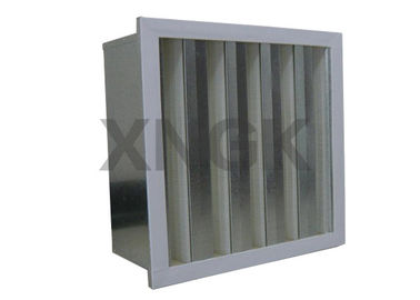 China HV Glass Filber V Cell Design High Volume HEPA Filter Metal Frame supplier