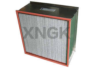 China Single / Double Flange Type Oven Fan Filter , Metal Mesh H12 Hepa Filter Box Type supplier