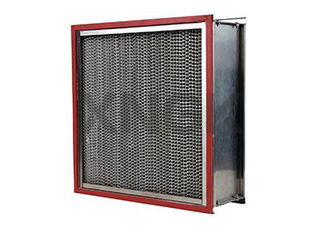 China Waterproof High Temperature HEPA Filters 0.3 Micron Aluminum Alloy Frame supplier