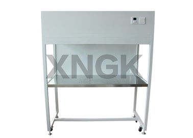China Class 100 Laminar Flow Hoods Painted Steel Frame Fluorescent Lamp / UV Light supplier