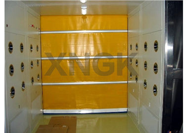PVC Curtain Rolling Door Clean Room Air Showers 316 Ss Frame Material