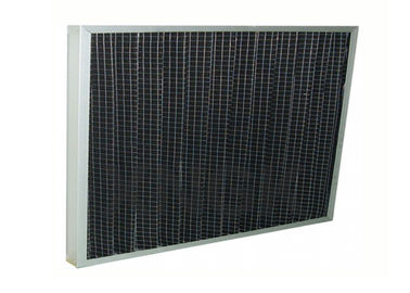 China Charcoal Pre Filter Pleated Aluminum Alloy Frame , Absorb Smoke Pre Carbon Filter supplier