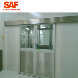 China Automatic Sliding Door Cleanroom Air Shower System Tunnel With Custom Width supplier