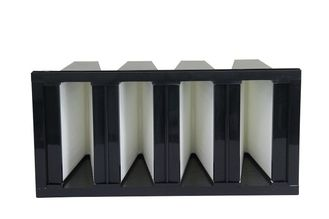 China Big Rated Air Flow PP Media V Bank Filter H10 H11 Efficiency Long Service Time supplier
