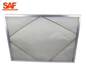 China Multiple Layer Stainless Steel Air Filter , G4 High Temp Washable Metal Air Filters supplier