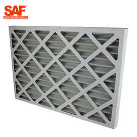 China Cardboard Frame Flat Panel Air Filter , Commercial HVAC Filters G4 Efficiency supplier