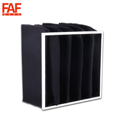 China Activated Carbon Pocket Air Filter High Absorbing Black Color With Synthetic Fiber supplier