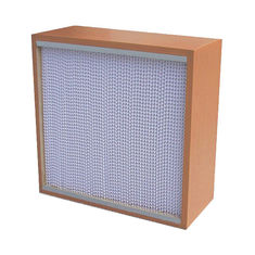 China High Mechanicla Strength Air Purification Filters Box Type With Wooden Frame supplier