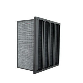 China W Type Pre / Medium Active Carbon AC Air Purification Filters ABS Plastic Frame supplier