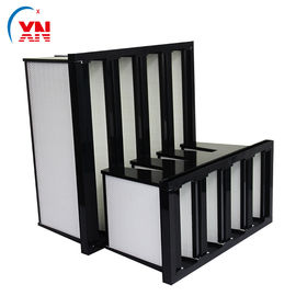China ABS Frame Sub HEPA V Bank Filter Glass Cotton For Air Conditioning System supplier