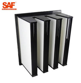 China Farming Compact Air Filter MERV 11 High Capacity V Bank Plastic Frame Standard Size supplier