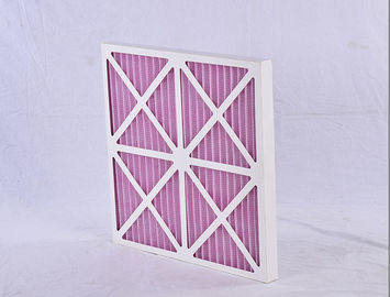 China Coarse Paper Panel Air Filter Pre Filter Pleat Frame HVAC System Synthetic Fiber Media supplier