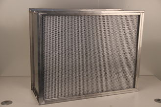 China SS Frame Hepa Panel Filter , Aluminum Foil Hepa Air Filter High Temp Resistance 400℃ supplier