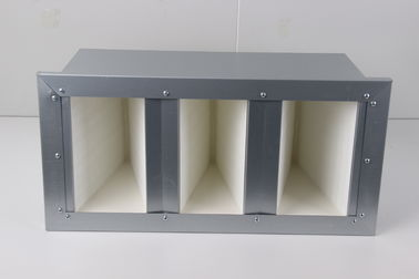China Aluminum Steel Frame Box V Type Filter , Stable HEPA Air Filters For AHU System supplier