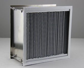 China SS Frame High Temperature Air Filter H13 Hepa Air Purifier Aluminum Foil Separator supplier