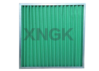 China Non - Woven Cloth V Form Pre Air Filter Customized Size Galvanized Steel Frame factory