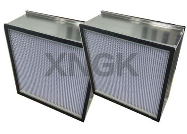 Rigid HEPA Filter With Aluminum Separator Galvanized Steel Frame Clean Room