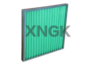 China Galvanized Frame Pleated Panel Pre Air Filters With Synthetic Fiber Media factory