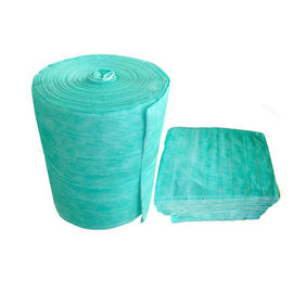 China Synthetic Fiber Pocket Filter Media , Green Non Woven Bag Air Filters factory