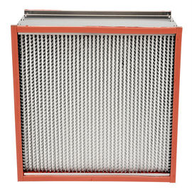 Pharmaceutics High Temperature Hepa Filters Stainless Steel Enclosing Frame