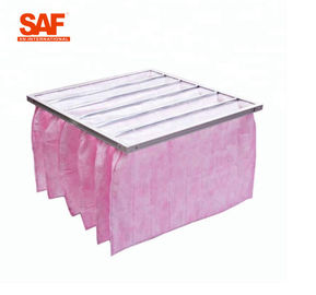 Glass Fiber Pocket Non Woven Filter High Dust Holding Ability For HVAC System