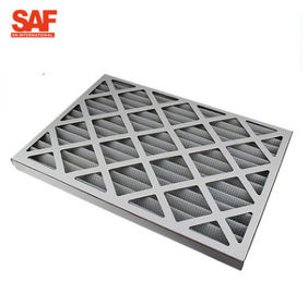 Pleated Industrial Air Filter Cardboard Frame G4 Cotton Hvac Oven Low Energy Consumption
